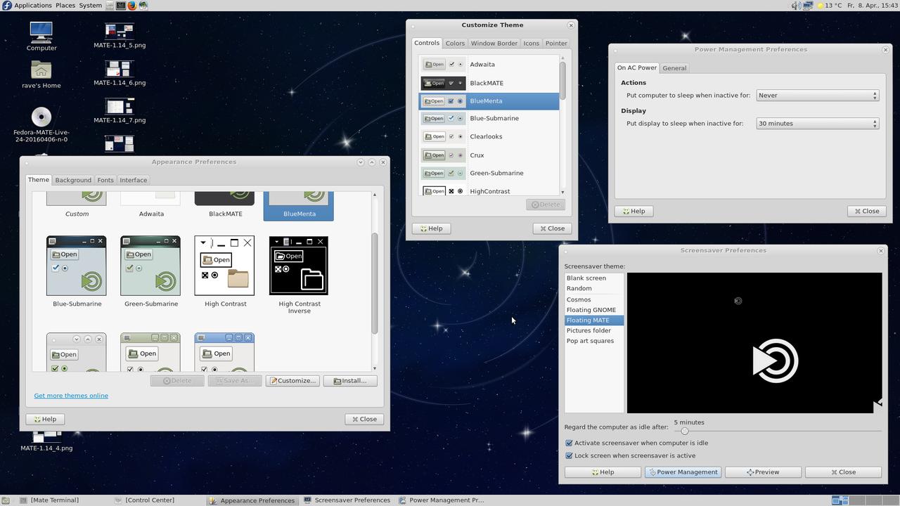 Tampilan desktop MATE